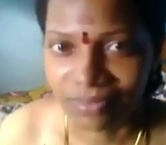 Tamil aunty hawt salt-water boobs dissimulate and pussy fucking in aunty house