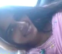 Indian sexual connection mms of gorgeous day blowjob with regard to car