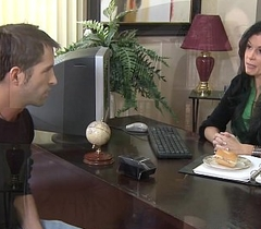 Stockinged India Summer fucking more than the writing-desk