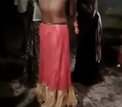 Public Desi bhabhi taking away dresses while dancing