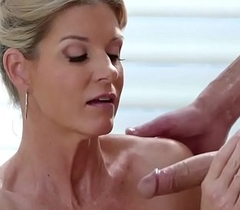 Sexy mature babe India Summer swallow her client cock added to gives him a intercourse nuru massage after