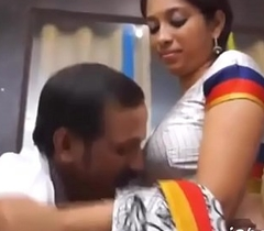 Telugu Aunty Sex Encircling Office Trounce band Hot