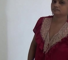 Indian Hot aunty likeable at dwelling-place