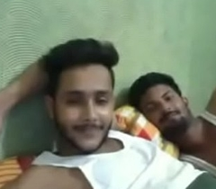 Indian Boys Having Fun on Web camera