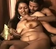 Indian XXX bhabhi feeding her tighten one's belt dear milk