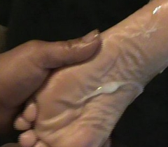 Cum on Indian soles
